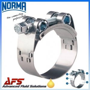 150mm - 162mm NORMA GBS Heavy Duty W4 Stainless Steel Clip T Bolt Super Hose Clamp